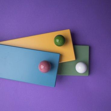 Ручка-кнопка зеленая керамика KF12-15 2