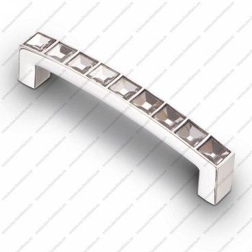 Ручка-скоба со стразами 96 мм хром CRL 02 1