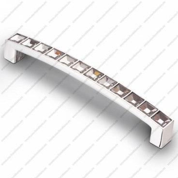 Ручка-скоба со стразами 128 мм хром CRL 02 1