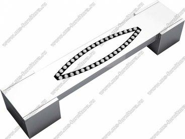Ручка-скоба со стразами 160 мм хром RG-160-02 1