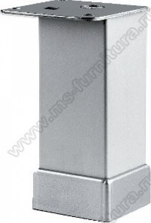 Опора регулируемая гладкая матовый хром 100 мм №113 1