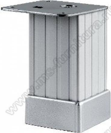 Опора регулируемая рифленая матовый хром 80 мм №122 1