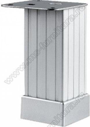 Опора регулируемая рифленая матовый хром 100 мм №123 1