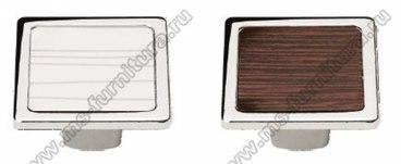 Ручка-кнопка хром со вставками 6083-06 1