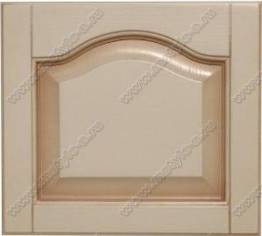 Фасад Классика из бука в цвете белый с коричневой патиной 1