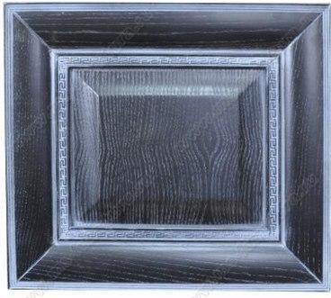 Фасад из ясеня Ника цвет черный с голубой патиной 1