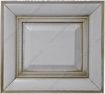 Фасад из ясеня Ника цвет белый с золотой патиной 1
