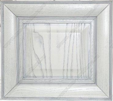 Фасад Ника из ясеня цвет белый с серебряной патиной 1