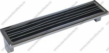 Ручка-скоба 160 мм хром+черный с серебром SN-160-02/23 1