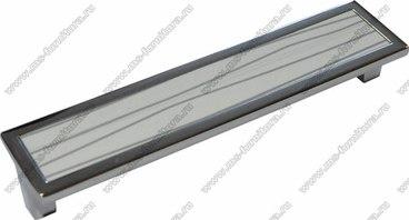 Ручка-скоба 160 мм хром+белый с серебром SN-160-02/26 1