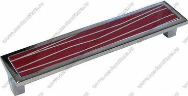 Ручка-скоба 160 мм хром+красный с серебром SN-160-02/29 1