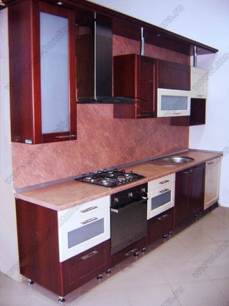 Кухня с фасадами Модерн KFM-02 1