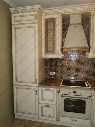 Кухня с фасадами из массива бука Ника KFN-01 1