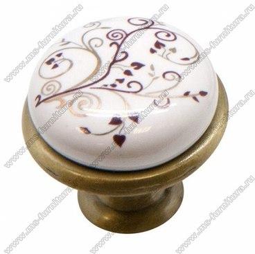 Ручка-кнопка бронза с керамикой KF01-04 1