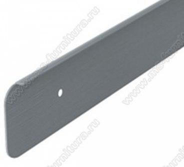 Планка торцевая универсальная 38 мм матовый хром 1