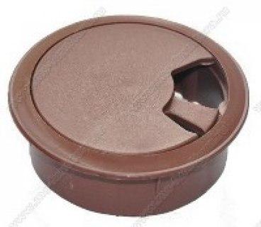 Заглушка для компьютерного стола коричневая 1
