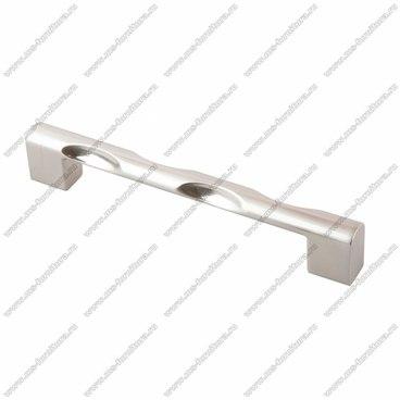 Ручка-скоба 128 мм атласный никель 128-051 BSN 1