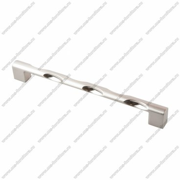 Ручка-скоба 192 мм атласный никель 192-051 BSN 1