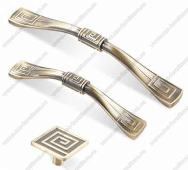 Ручка-кнопка античная бронза 16-031 1