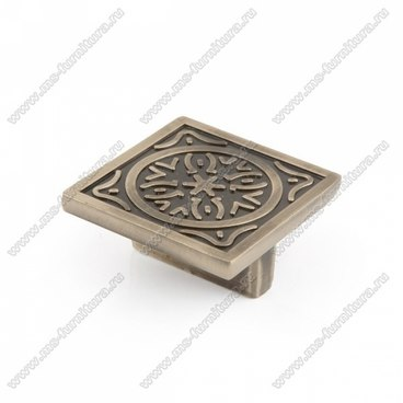 Ручка-кнопка античная бронза 16-040 1