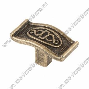 Ручка-кнопка оксидированная бронза 16-054 1