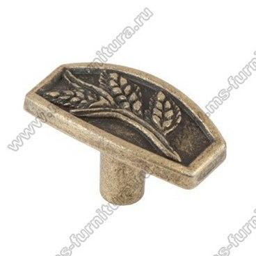 Ручка-кнопка оксидированная бронза 16-055 1