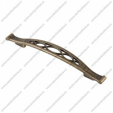 Ручка-скоба 128 мм оксидированная бронза 128-057 1