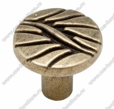 Ручка-кнопка оксидированная бронза 16-065 1