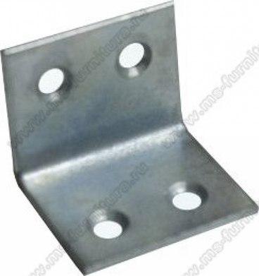 Уголок мебельный металл 25х25х30, 4 отв 1
