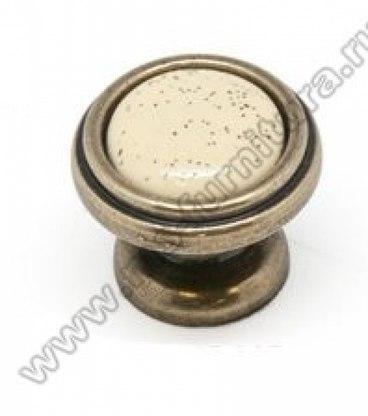 Ручка-кнопка бронза с керамикой KF03-05 OAB 1