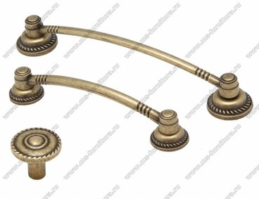Ручка-кнопка оксидированная бронза 16-071 1