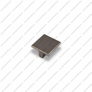 Ручка-кнопка 32 мм атласное серебро EL-7020-32 Oi 1