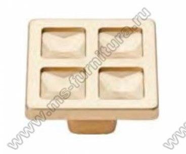 Ручка-кнопка матовое золото 6081-04 1
