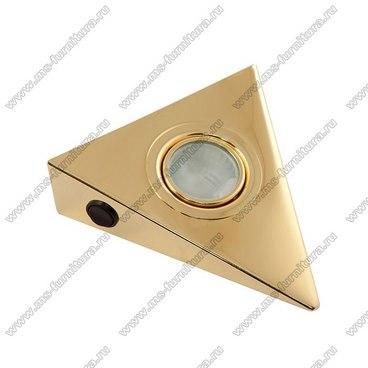 Светильник треугольник золото 1