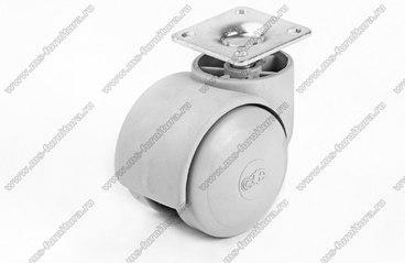 Серое пластиковое колесо d49 мм нагрузка 30 кг №417 1