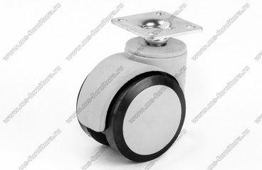 Серо-черное пластиковое колесо d50 мм нагрузка 35 кг №551 1