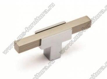 Ручка-кнопка хром+полированная сталь 67-CR+NB 1