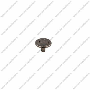 Ручка-кнопка черненный старинный цинк RK-090 BAZ 1