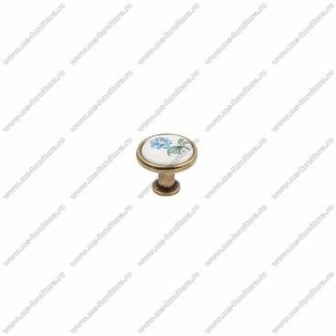 Ручка-кнопка бронза с керамикой KF02-07 OAB 1