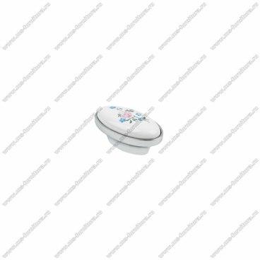Ручка-кнопка хром с керамикой KF04-08 1