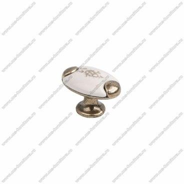 Ручка-кнопка бронза с керамикой KF05-09 OAB 1