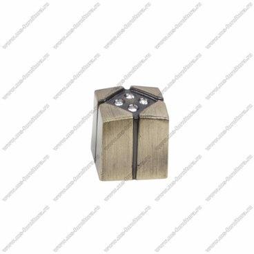 Ручка-кнопка со стразами бронза CRL10 BA 1