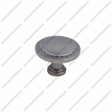 Ручка-кнопка черненный старинный цинк RK-086 BAZ 1