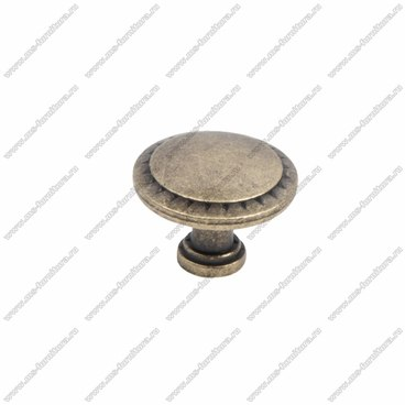 Ручка-кнопка оксидированная бронза RK-086 OAB 1
