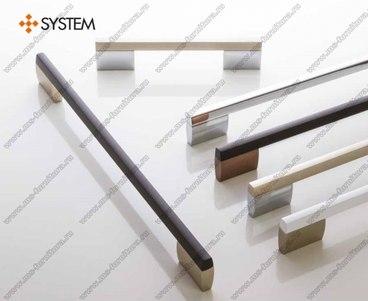 Ручка-скоба 160 мм хром + полированный никель SY8580 0160 CR-NB 1