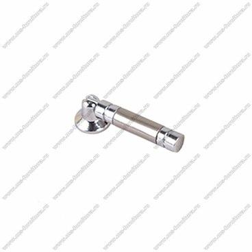 Ручка-кнопка хром+полированная сталь K-4030 1