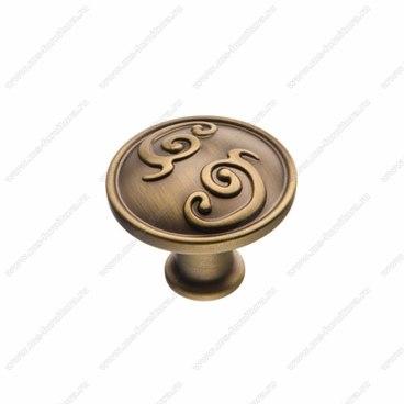 Ручка-кнопка атласная бронза EL-7170 MAB 1