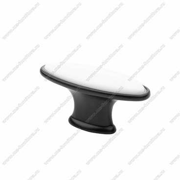 Ручка-кнопка матовый черный KF06-11 BL 1