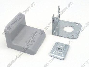 Уголок металлический + пластиковая заглушка Серый 1