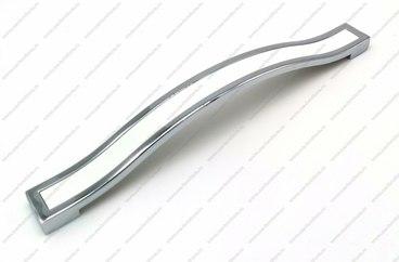 Ручка-скоба 128 мм хром+белый BTX-128-02/20 1